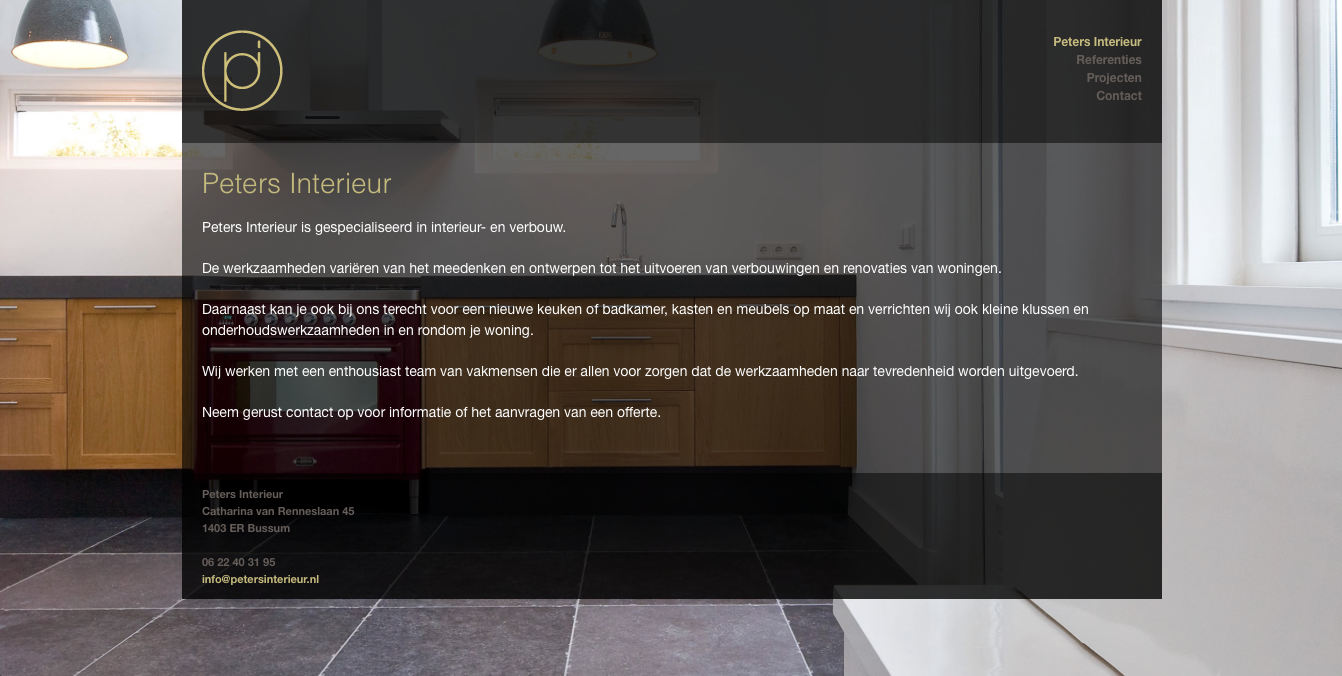 Peters Interieur – Jan van Dam Webdevelopment